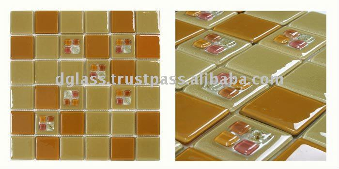 DP07GREENISH YELLOW/ OCHRE glass tile