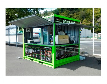 Pop up mobile mini shipping container marekting prefabricated restaurant shop street food kiosk container 10ft for sale