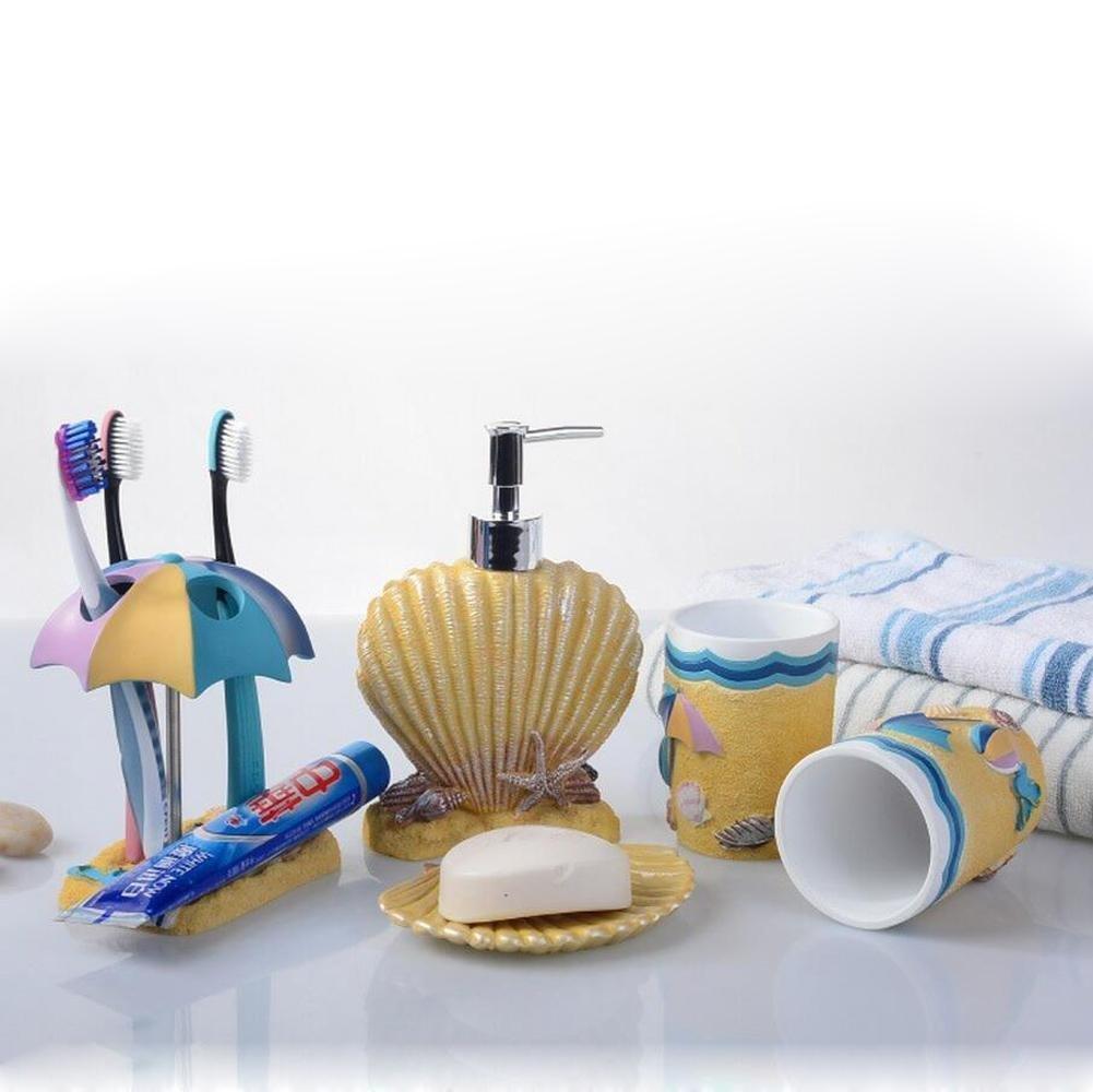 SBWYLT-Bathroom set top grade resin continental five-piece bathroom mug