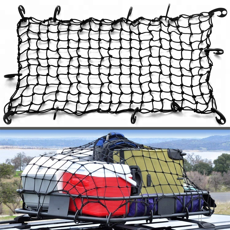 120x90cm 12 Hooks Elastic Car Roof Luggage Carrier Cargo Net