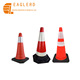 PE PVC rubber material reflective traffic cone