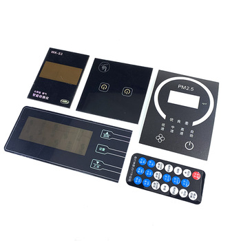 China supplier custom adhesive foil keyboard remote membrane switch panel