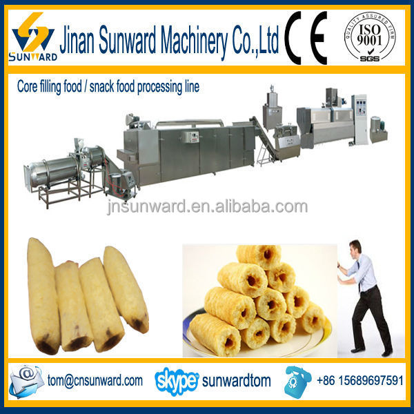 Cost saving core filled food extruding machine with CE