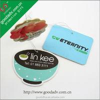 Custom wholesale car air fresheners with own logo / designer perfume car air fresheners