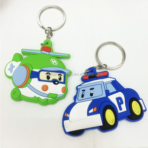 Helicopter Car Shaped Keychains New Logo Cartoon Keychain