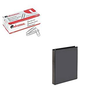 KITAVE19600UNV72220 - Value Kit - Avery Economy Showcase View Binder with Round Rings (AVE19600) and Universal Smooth Paper Clips (UNV72220)