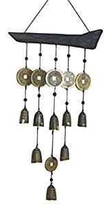 StealStreet 40031 22 inch Tibetan Bell Multi Strand Wind Chime, Brown & Gold Color