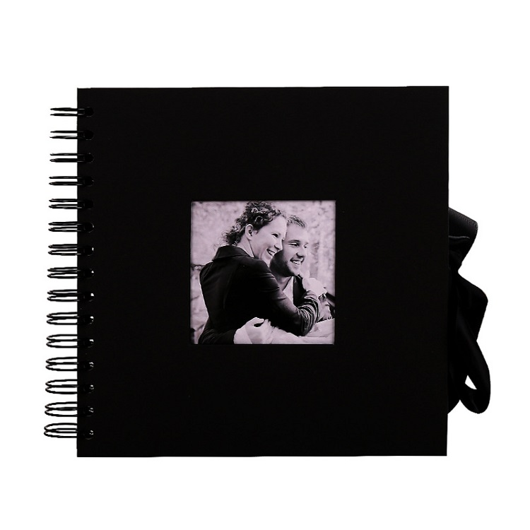 8x8IN Photo Albums 40 Sheets Handmade Scrapbook Black Photo Album DIY Photo Album