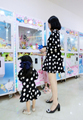 Free shipping new style family match outfits PARENT CHILD Family mother doughter girls one piece dress