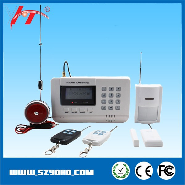 laser Wireless home security Alarm System Kit with PSTN GSM Network