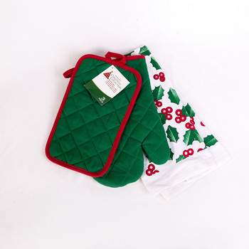 Promotion Christmas Design Oven Mitt Potholder And Kitchen Towel 3pcs Kitchen Sets Buy 3pcs Kitchen Sets Christmas Kitchen Towel Set Christmas