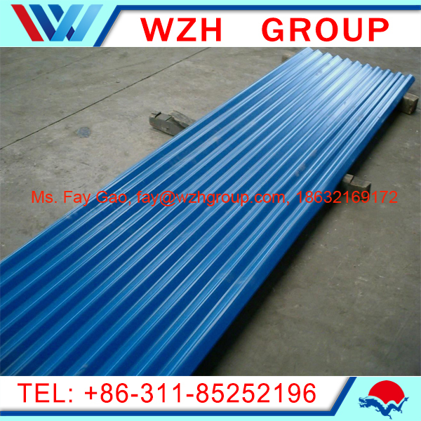 Pre Painted Sheet Metal Roof / Corrugated Metal Roofing Sheet Price