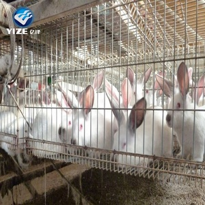 Double doors knock down metal animal pet rabbit cage for breeding