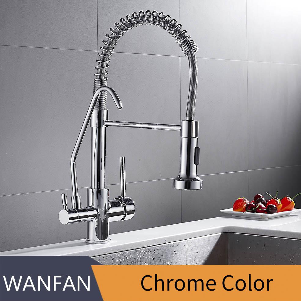 Смеситель для кухни torneira para cozinha de parede кран для кухонного фильтра для воды кран Три способа смеситель для раковины кухонный кран WF-0192(Китай)