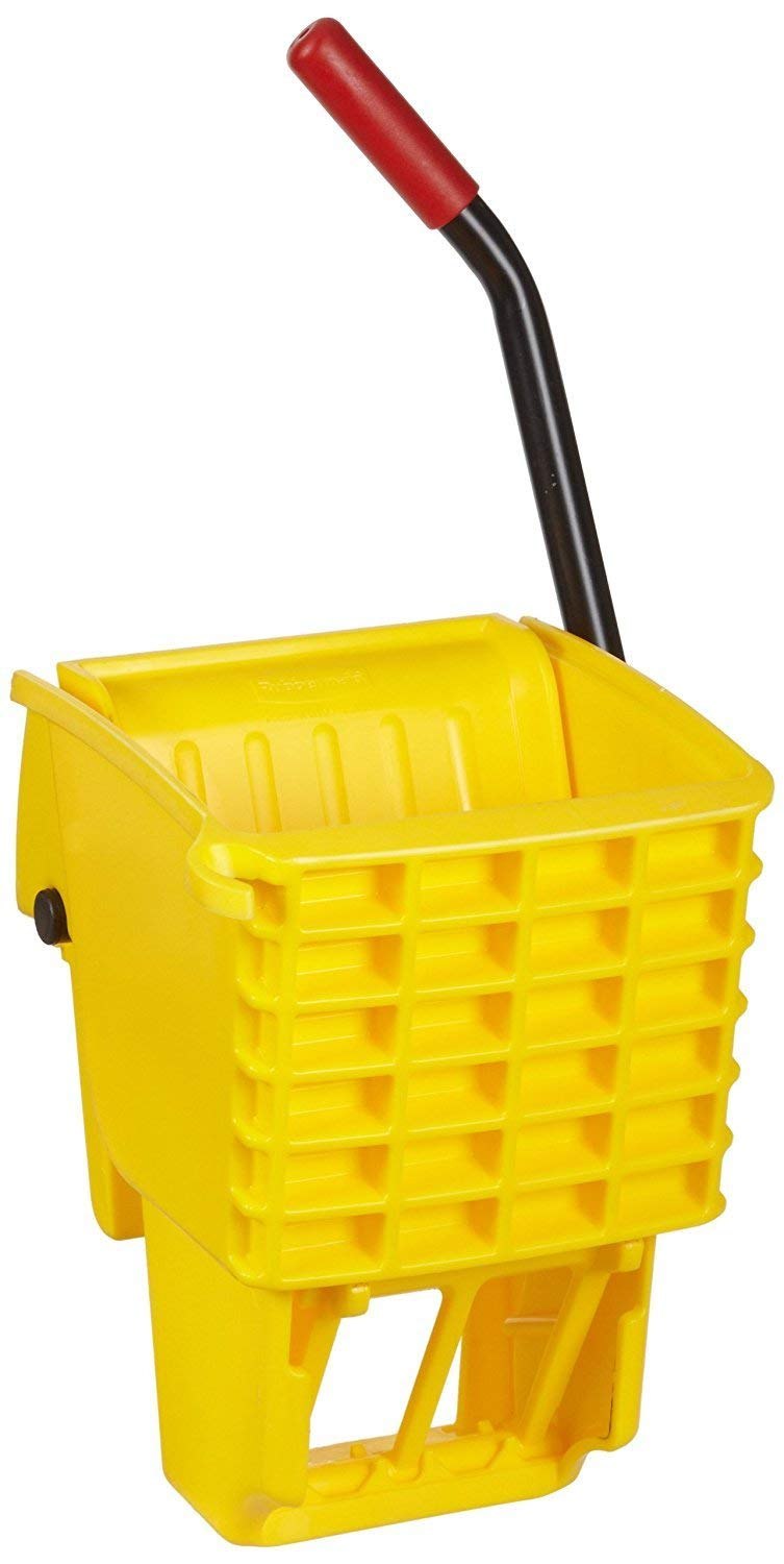 Rubbermaid Commercial FG612788YEL Side-Press Wringer for 13- to 32-ounceWaveBrake Mop Buckets, Yellow (1 PACK)