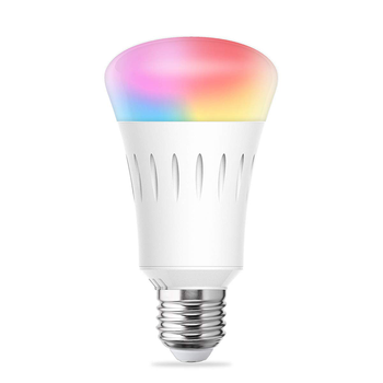 smart Tuya wifi led bulb multi customized colour dimmable light RGB+W Siri Alexa APP E27/26/14