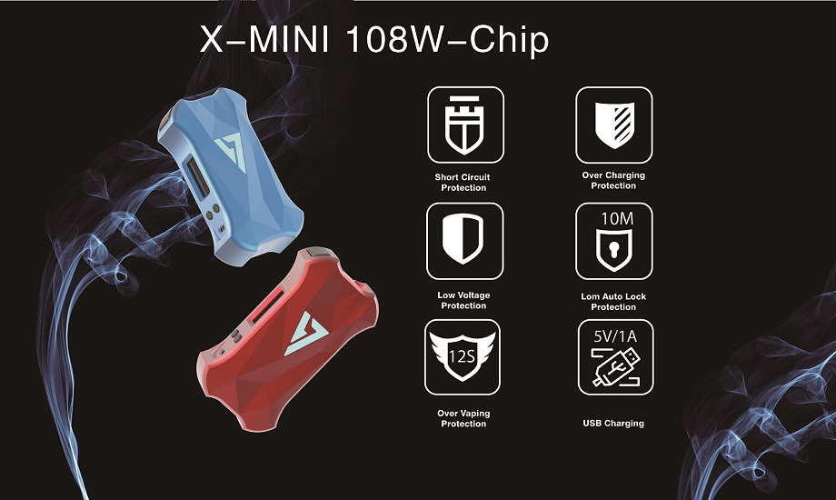 Desire Design X Mini 108W Mod 21700 Battery Box Mod