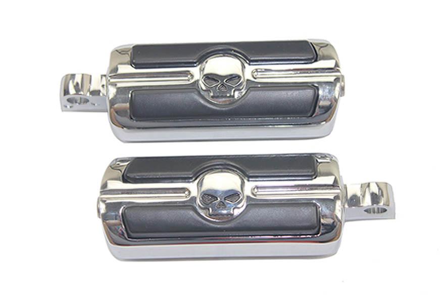 Хром череп вилли G череп мини-peg для Harley спортстер 883 делюкс XLH883DLX 1988 - 1995