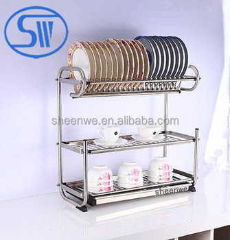 wdj850 880guangzhou new style 201 304wall hanging dish racks 3 tiers stainless steel dish rack. Black Bedroom Furniture Sets. Home Design Ideas