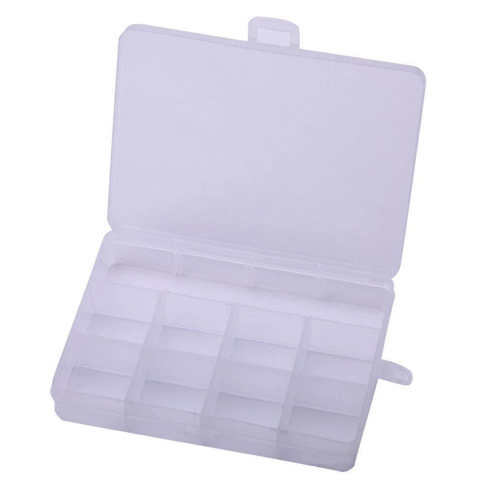2 X Plastic Storage Box 12 slots Personal Organizer Storage Box Vitamine Container Medicine Pill Box Container Jewelry Storage #spb19