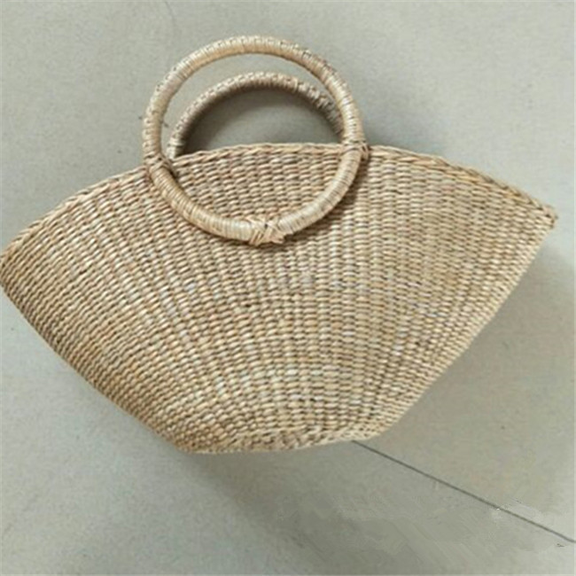 ANGEDANLIA shoulder straw tote leather handles online for women-2