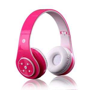 OEM colorful cordless bluetooth headphone brand name colorful stereo headband headphone
