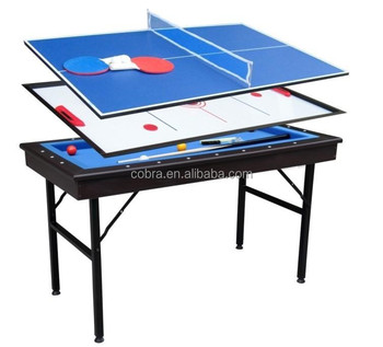 Carom Pool Table, Table Tennis Table, Hockey Table With Steal Folding Legs
