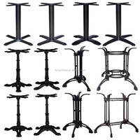 Wholesale commercial antique black cast iron metal table base metal coffee table legs for restaurant