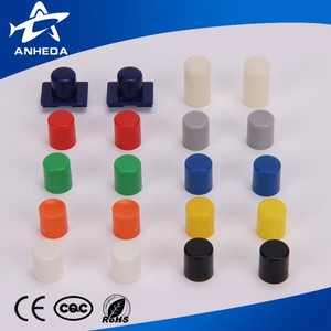 hot sell square plastic tactile push button switch cover plate switch caps