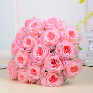 High quality big rose flowers artificial wedding silk red roses wedding bouquets