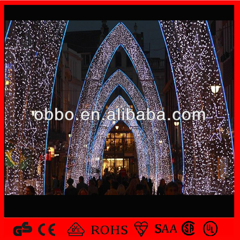 Outdoor Buildings Decorative Christmas Light Led Arch Decoration ...