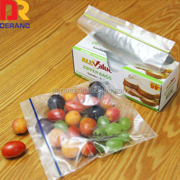 Waterproof clear custom reclosable ldpe pack ziplock bag