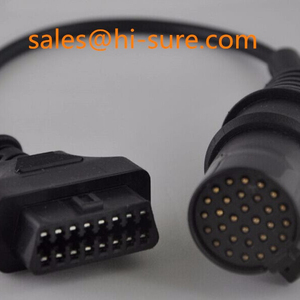 J1962 OBDII connector TO Iveco30P Cable for heavy duty truck obd diagnostic  scanner tool