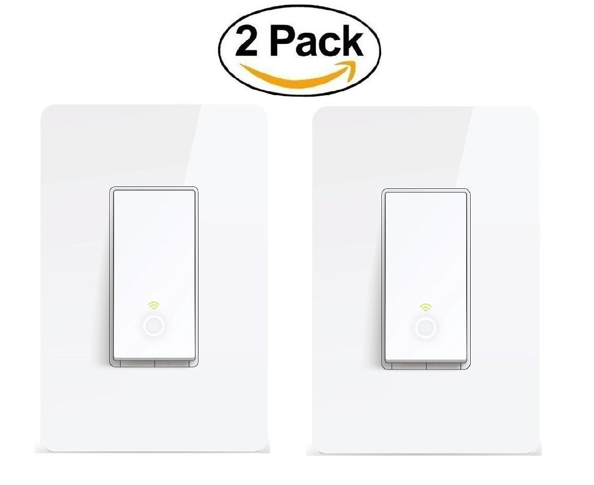 TP-Link Smart Wi-Fi Light Switch, No Hub Required, Single Pole, Control Your Fixtures From Anywhere (HS200), Works with Amazon Alexa Kit (2-Pack)