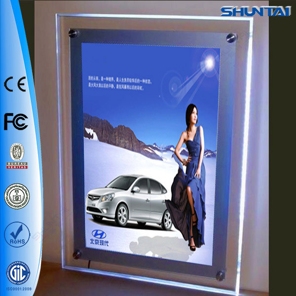 Lighting Advertising Crystal Led Shadow Box Frames Whole