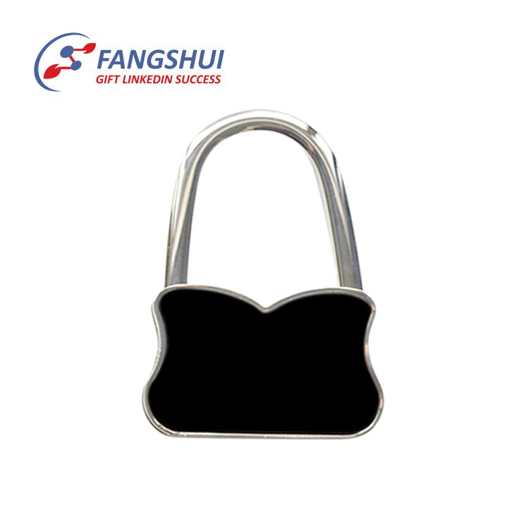 Top sale custom made folded bag shape table hanger handbag hook purse hook
