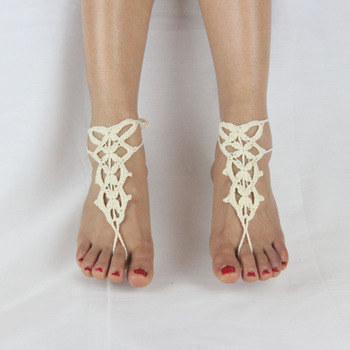 2c340ef9c116a Nj2818 Fashion Flower Patterns Barefoot Sandals Foot Jewelry Crochet  Knitted Anklets - Buy Flower Crochet Anklet,Fashion Design Anklets,Barefoot  ...