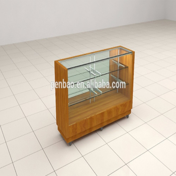 Customized Retail Store Furniture Jewelry Glass Display Showcase Formica  Fireproof Panel Oval Display Cabinet