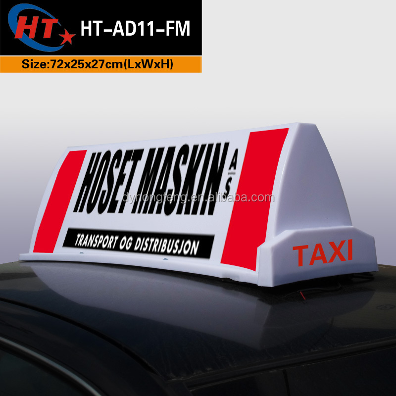 Plastic led lamp magnetic car roof top for advertising
