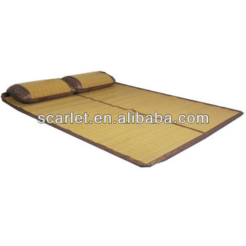 Folded Straw Beach Mat For Outdoor