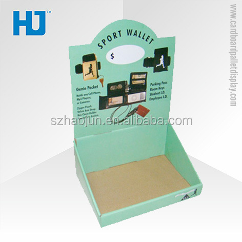 Point of Sale Books Counter Display, Compact 3 Tier Paper Counter Top Display Stand