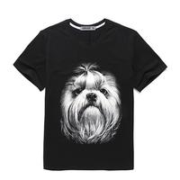 2017 summer fashion men's clothing custom 3 printing t shirt for men oversize short sleeve t shirt made in China