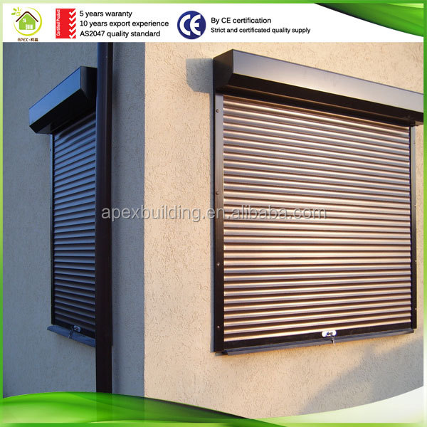 China good professional aluminum matrerial remote control roller shutter with spring motor parts
