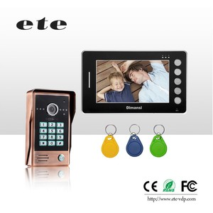 ETE two way waterproof multi video door interphone with smart home gateway