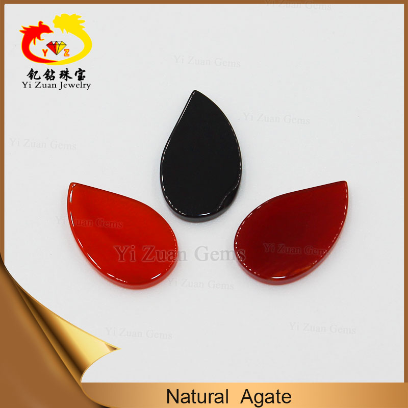 Wholesale price especial customized design cabochon cut leaf slice shape natural agate