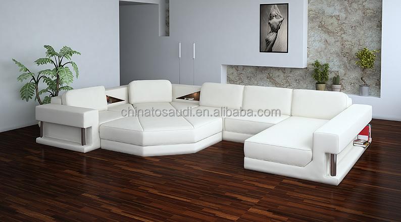 2015 Modern Italian Design White Leather Lounge Sofa Design