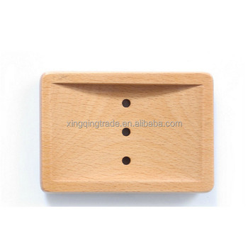 Wooden Home Bathroom Shower Soap Box Dish Plate Holder Drip Tray Case
