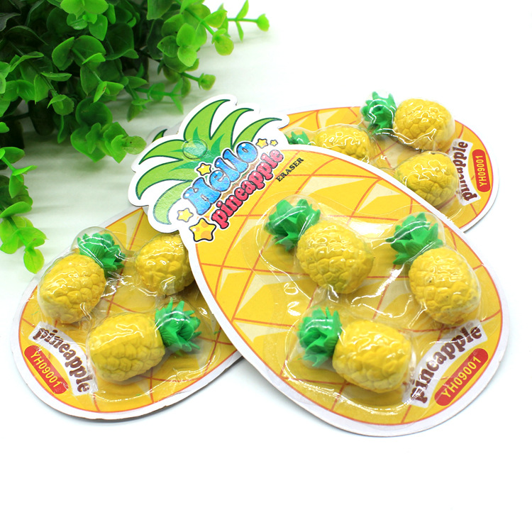 Simulated Pineapple Shape Cheap Environmental Non Toxic Student Eraser