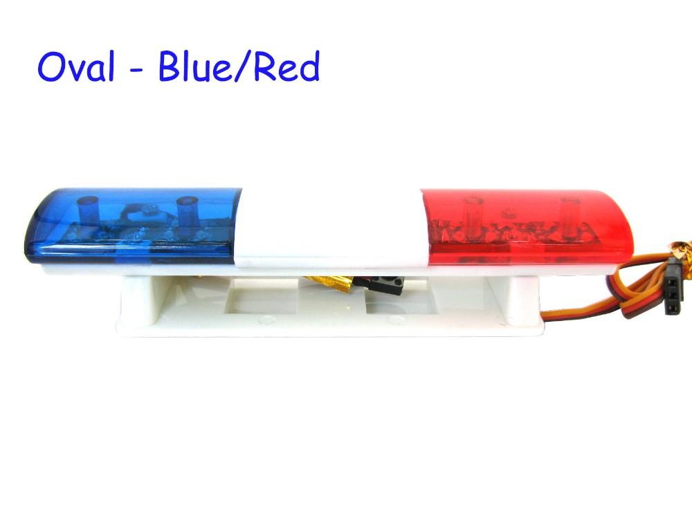 Red Color 1//10 RC Car Bright 360 Degree Rotation Led Police Light Bar Blue