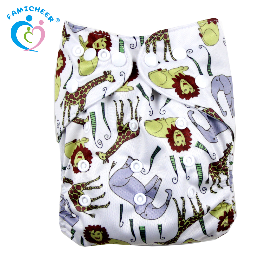Eco-friendly Wholesale Super Absorbent Baby Cloth Diaper Custom Printed Nappy